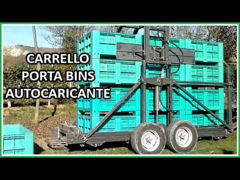 CARRELLO PORTA BINS AUTOCARICANTE