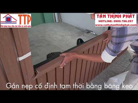 Thi công Tấm Composite Outdoor