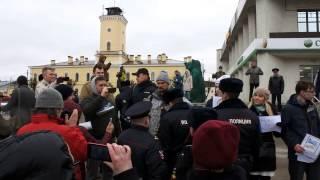 Задержание участников группового пикета в г. Гатчина