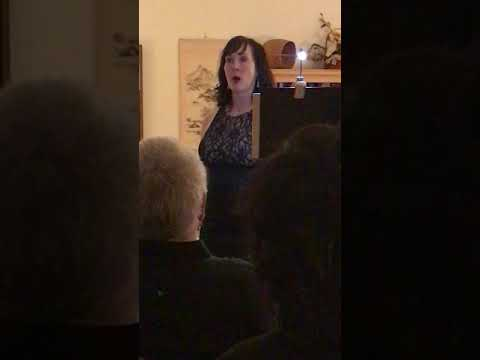 Tamra Glaser singing at a private event