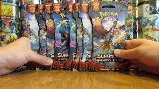 8 Pokemon Burning Shadows Booster Pack Opening