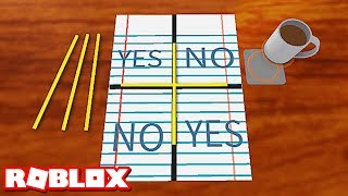 CHARLIE CHARLIE CHALLENGE IN ROBLOX