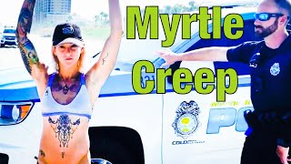 (Creepy) Cop Manhandles Woman In Bikini!