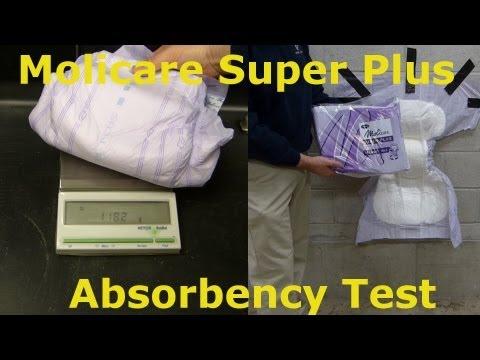 molicare super plus absorbency test