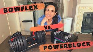 Bowflex vs. Powerblock Adjustable Dumbbells Review | HOME GYM | Mauricette Diaz