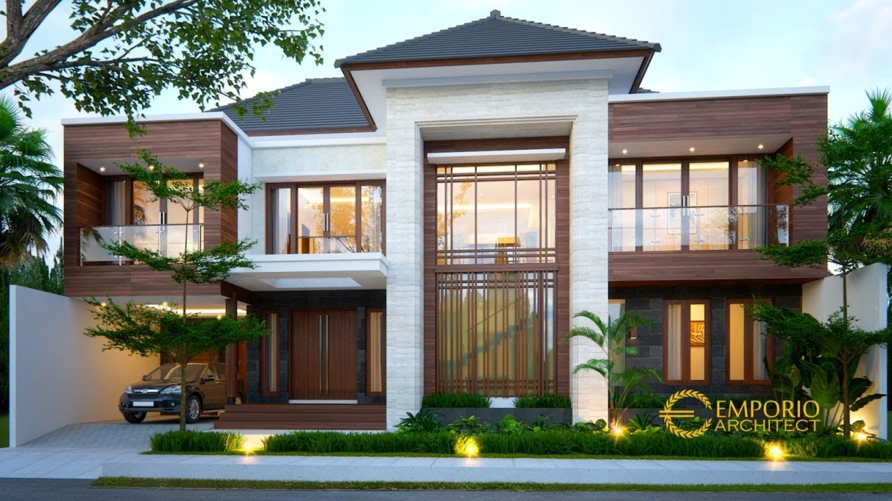 Video 3D Desain Rumah Modern 2 Lantai Ibu Lisa di Kediri, Jawa Timur