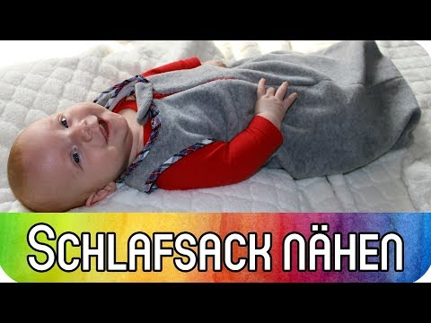 Schlafsack für Babys und Kleinkinder nähen | Schrägband, Reißverschluss & Kellerfalte für Anfänger