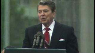"President Ronald Reagan ""Tear Down This Wall"" Speech at Berlin Wall"