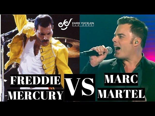 Fredie Mercury VS Müthiş Taklidi Marc Martel Ses Analizi