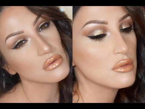 TOO FACED PRETTY RICH SMOKEY BRONZE HALO MAKEUP TUTORIAL