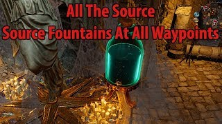 All The Source - Source Fountains At All Waypoints
