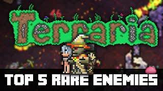 Top 5 RARE Enemies in Terraria! (PC, CONSOLE, MOBILE) PRE 1.3
