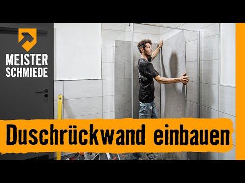 Duschrückwand einbauen | HORNBACH Meisterschmiede