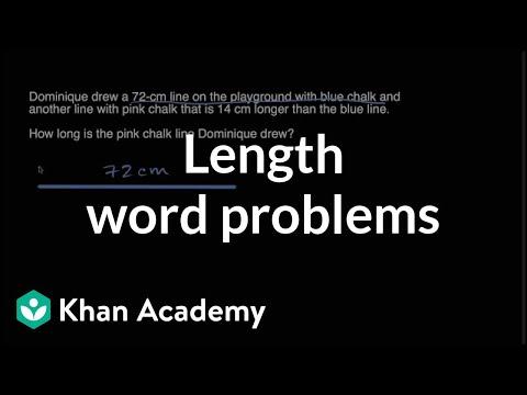Length word problems (video) Khan Academy