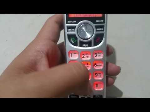 Mensaje personalizado contestadora answer machine Uniden dect 1580