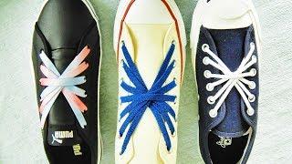 〔靴紐の結び方〕花火をイメージしたような靴ひもの通し方 花火結び how To Tie Shoelaces  〔生活に役立つ!〕