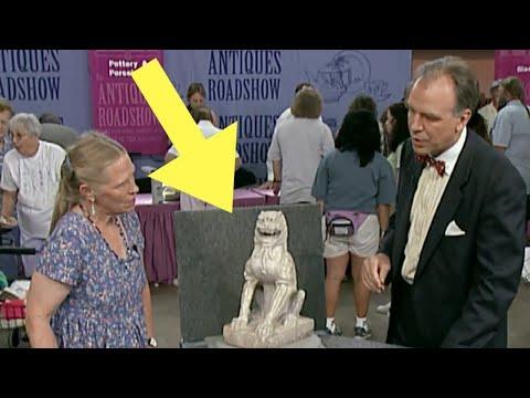 Antiques Roadshow  Appraiser Chokes Back Tears When He Sees Woman's Antique Lion Statue