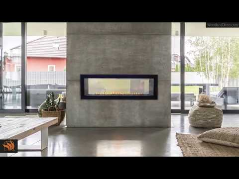 "Boulevard 48"" Ventless See-Through Gas Fireplace"
