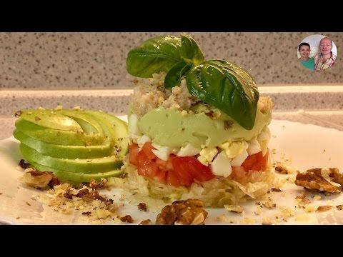 """Салат """"Исидора""""! Салат с крабовым мясом и авокадо! Невероятно вкусный и нежный салат!"""