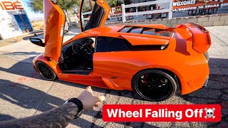 WHEEL FALLING OFF...FIRST DRIVE FAST & FURIOUS LAMBORGHINI!?