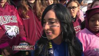 JERSEY SHORE ANGELINA PIVARNICK LIVE AT SUPER BOWL TAILGATE PARTY ON PIX11