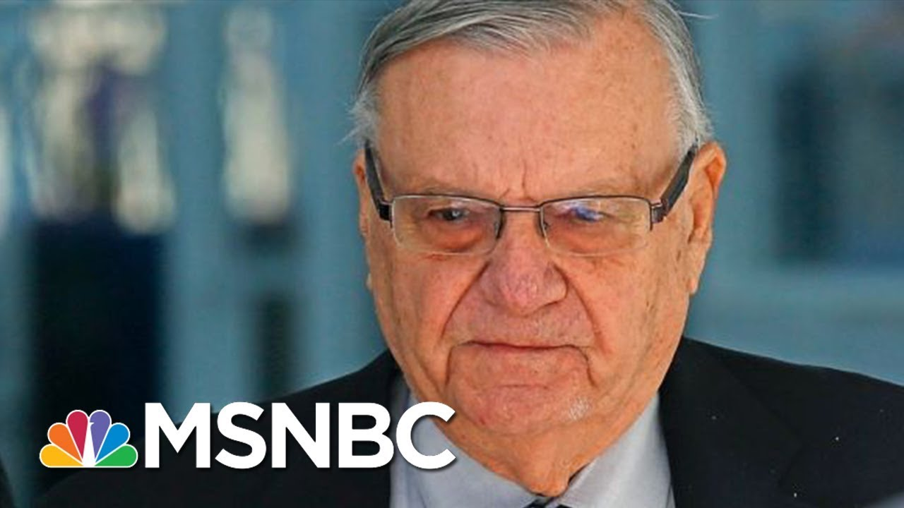 Watch Joe Arpaio Learn His Pardon Was An Admission Of Guilt | The Beat With Ari Melber | MSNBC thumbnail