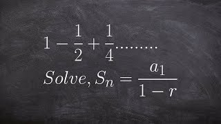 Learning how to find the sum of an infinite geometric series