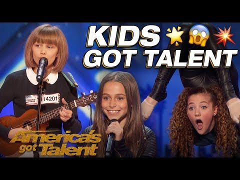 Grace VanderWaal, Sofie Dossi, And The Most Talented Kids! Wow! - America's Got Talent (видео)
