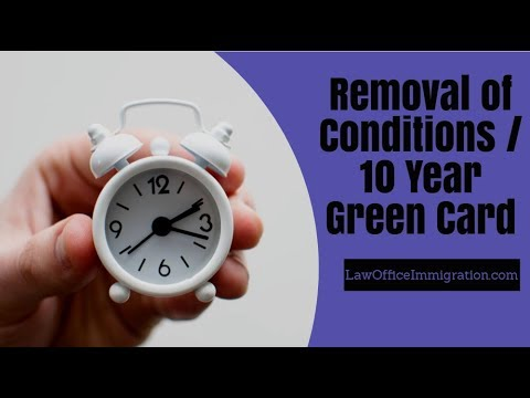 Removal of Conditions Overview