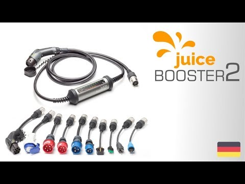 Juice Technology booster 2 (CEE 7/7, CEE16 bleu, CEE16 rouge, CEE32 rouge, 22kW, 32A, Type 2)