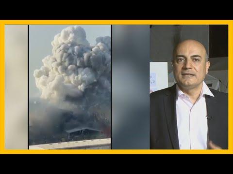 """🇱🇧 """"هذا ليس انفجارا طبيعيا"""".. مذيع الجزيرة حسن جمول يعلق على حجم الدمار الذي وجده بعد وصوله بيروت"""