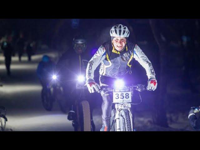 Ночные гонки по снегу