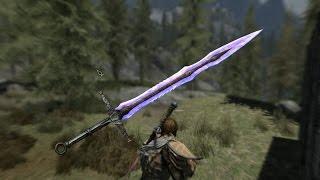 skyrim the elder skrolls 5//мощный меч и драконий лук