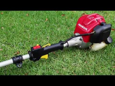 Honda UMK425U 25cc 4-Stroke Brushcutter String Trimmer Line Trimmer Startup Cold Start Revving Sound