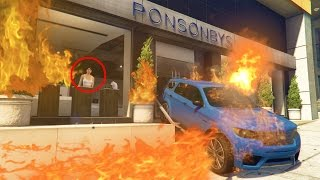 WE TRAPPED HIM IN A BURNING BUILDING! *CRAZY* | GTA 5 Online