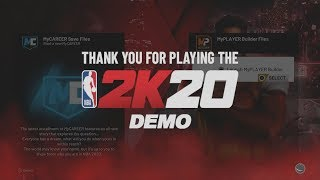 HOW TO REPLAY 2K20 DEMO WITHOUT CREATING A NEW ACCOUNT
