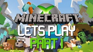 Lets Play Minecraft : Xbox 360 Edition | Part 1 The Beginning!