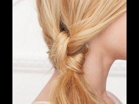 Прическа оригинальный хвост на бок. Прически на средние волосы