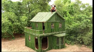 Amazing 2 Weeks Build The Beautiful Bamboo House