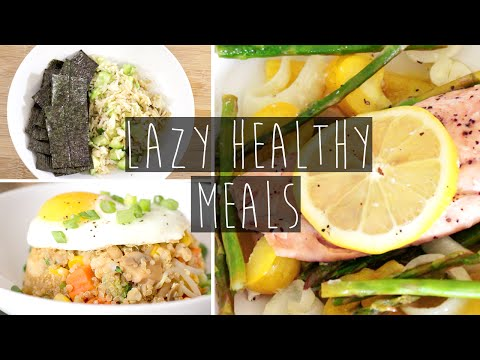 Video 3 Quick & Easy Healthy Dinner Ideas FOR LAZY PEOPLE + Recipes | Eva Chung