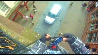 preview picture of video 'Eastgate Clock Abseil, Chester UK (gopro hd hero)'
