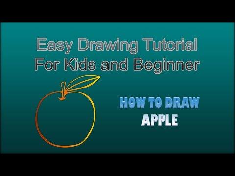 Belajar Menggambar Buah Apel Dengan Mudah