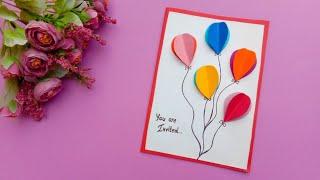 Birthday Invitation Card // Birthday Card//Birthday Party Invitation Card//Diy Birthday Card.