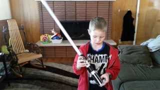 Star Wars Anakin to Vader color change lightsaber toy review