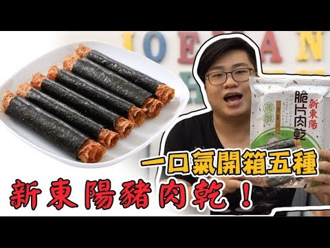 【Joeman】一口氣開箱五種新東陽肉乾!哪一種最好吃?