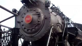 VISITING A  WORKING TRAIN BUILT IN THE 1800'S ...from the Strasburg Railroad in Lancaster, PA