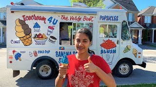 Hadil Buying Ice Cream from the Ice Cream Truck