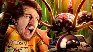 SO I GOT SHRANK & HUNTED BY GIANT SPIDERS!   Grounded W/ Friends (Awesome Game!)