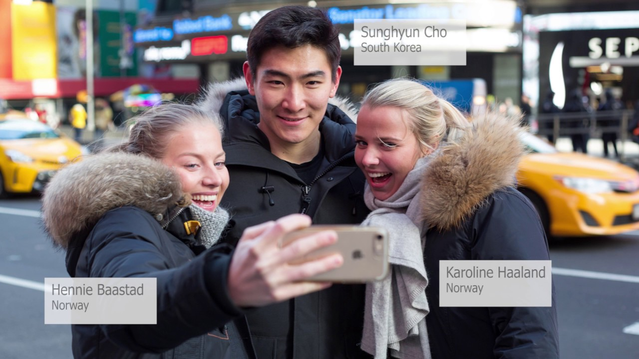 Berkeley College International Students in Times Square
