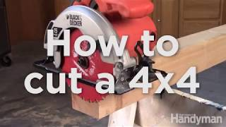 How to Cut a 4x4